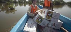 تنفيذا لتوجيهات رئيس الدولة .. توزيع مساعدات غذائية وخيام إيواء على المتضررين من كارثة الفيضانات في باكستان.