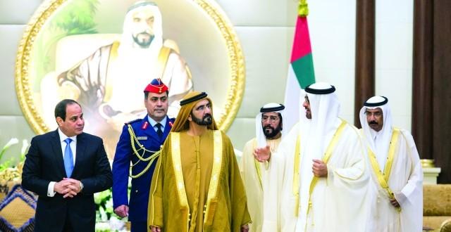 محمد بن راشد ومحمد بن زايد: بقيادة خليفة حـريصون على التعاون الاستراتيجي مع مصر