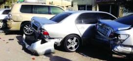 تسرب زيت يكشف متهماً صدم 8 مركبات في الفجيرة