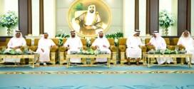 محمد بن راشد ومحمد بن زايد يستقبلان حكام الإمارات وأولياء العهود – صور