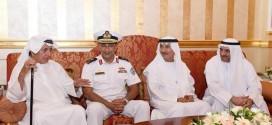 حاكم الفجيرة يستقبل قائد القوات البحرية ورئيس هيئة الأوقاف والعلماء ضيوف رئيس الدولة