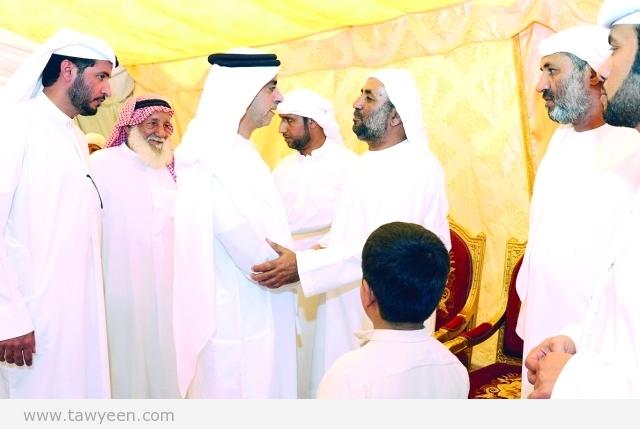 سيف بن زايد يعزي أسر الشهداء في الفجيرة