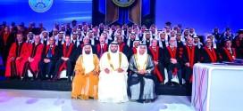 محمد بن حمد: نسعى إلى تحقيق التعليم المتكامل وشهد حفل تخريج 150 طالباً من جامعة عجمان في الفجيرة