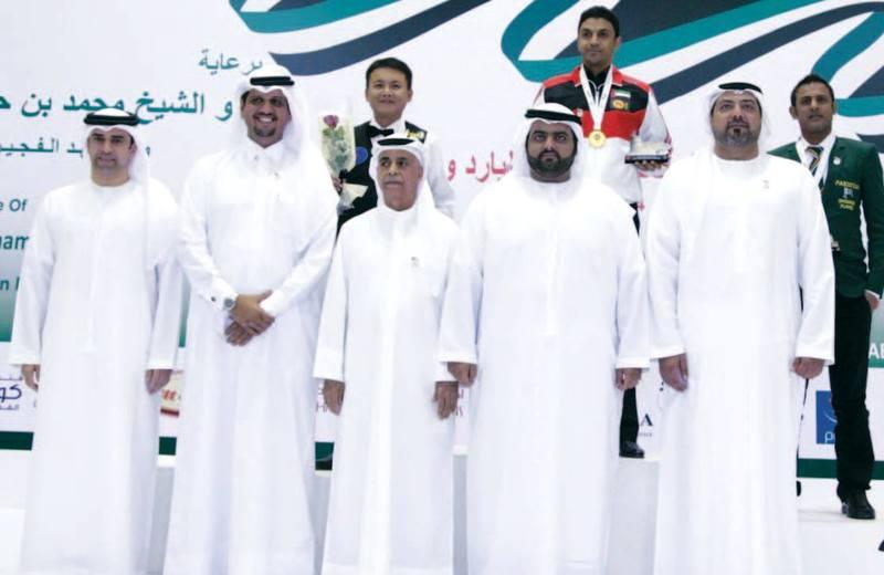 محمد بن حمد الشرقي يتوج أبطال آسيا للبلياردو والسنوكر و الإمارات تحرز 4 ميداليات والفجيرة شهادة امتياز